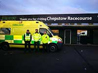 GDR Ambulance at Chepstow Racecourse