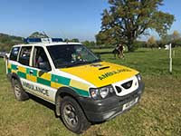 4 x 4 ambulance at equestrian event